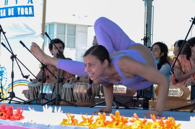 Demonstração do Yoga Avançado. Foto cedida pela Confederação Portuguesa do Yoga