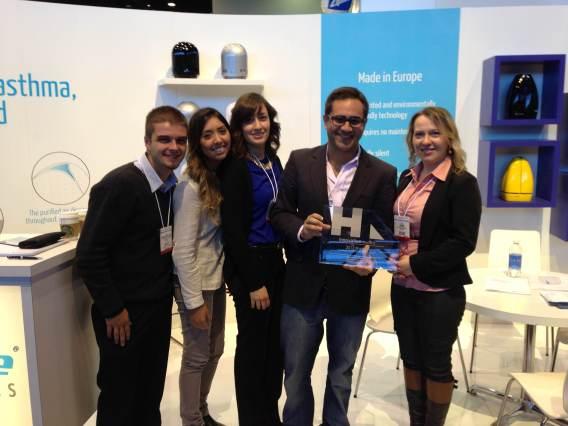 Daniel Matias, Vice-presidente e Diretor das Américas com prémio atribuído à Airfree